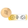 Metal Stamp Fancy Design 6mm Eco-chic (3pcs)